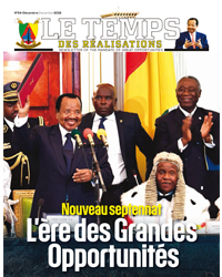 "Bulletin No.54 of the bilingual newsletter of the Civil Cabinet, ""Le Temps des Réalisations"""