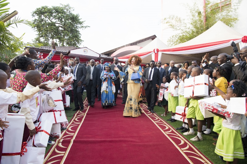 Christmas Tree Lighting at Chantal BIYA Foundation (19)