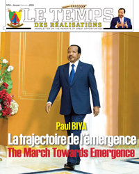 "Bulletin No.55 of the bilingual newsletter of the Civil Cabinet, ""Le Temps des Réalisations"""