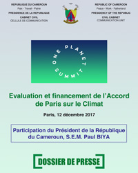 Dossier de presse - One Planet Summit
