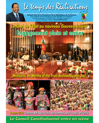"Bulletin No.48 of the bilingual newsletter of the Civil Cabinet, ""Le Temps des Réalisations"""