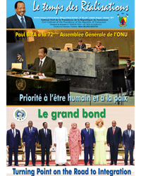 "Bulletin No.46 of the bilingual newsletter of the Civil Cabinet, ""Le Temps des Réalisations"""