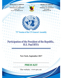 President Paul BIYA at the 72nd Session of the UN General Assembly