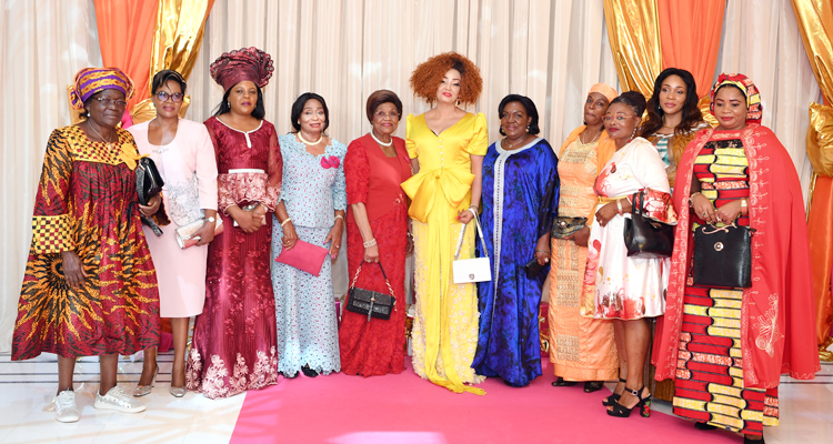 Presentation of 2019 New Year Wishes to Mrs Chantal BIYA