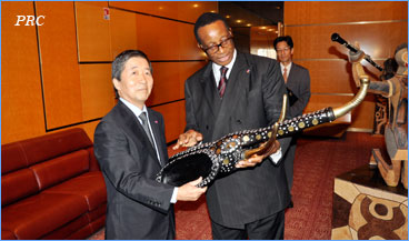 Japanese Ambassador received in audience on behalf of the Head of State at Unity Palace