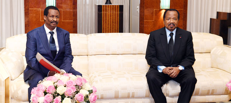 Envoy of Guinean President Alpha Conde received at Unity Palace