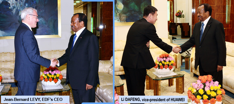 French and Chinese Investors at the Unity Palace