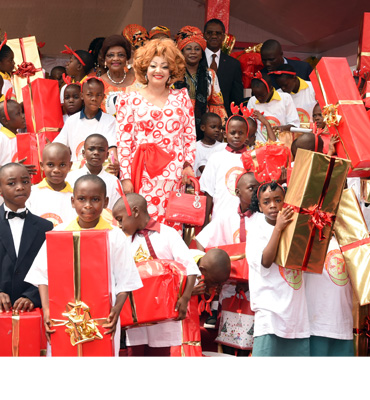 Over 1,500 Vulnerable Children Receive Christmas Gifts at Chantal BIYA Foundation
