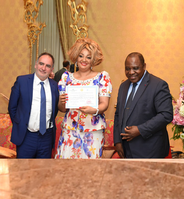 CHRACERH: First Lady Chantal BIYA meets Foreign Health Experts