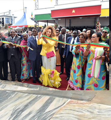 Madam Chantal BIYA inaugurates referral hospital for endoscopic surgery