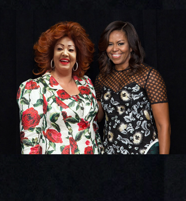 Chantal BIYA and Michelle OBAMA in Synergy for the Education of Young Girls