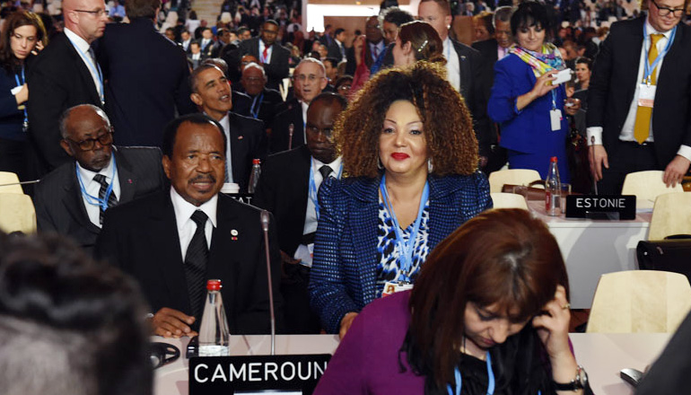 Le Chef de l'Etat et Mme Chantal BIYA à la COP21 à Paris