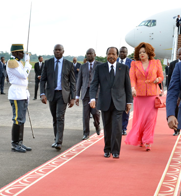 Presidential Couple back in Yaounde