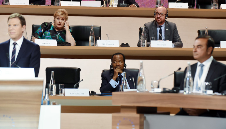 President Paul BIYA's Remarkable Presence at the One Planet Summit