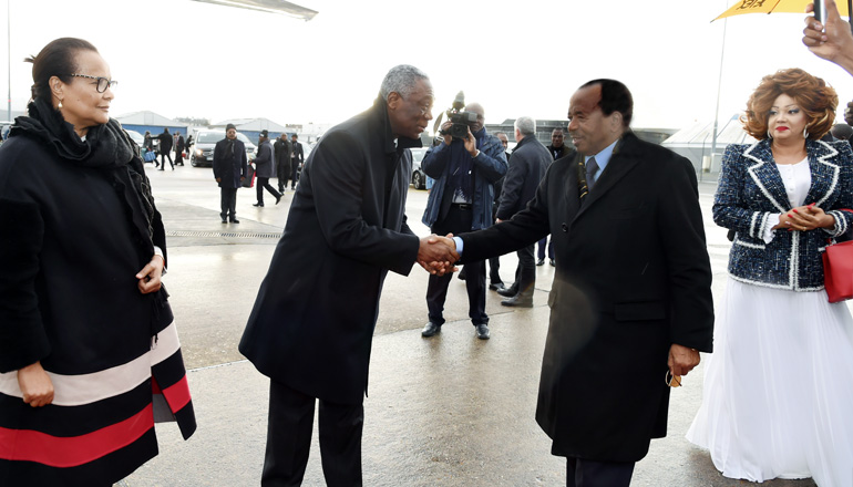 President Paul BIYA leaves Paris